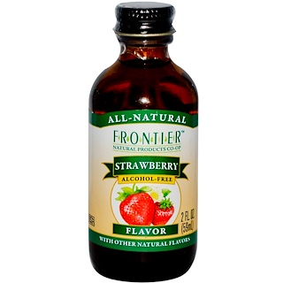 Frontier Natural Products, Strawberry Flavor, Alcohol-Free, 2 fl oz (59 ml)