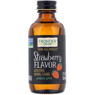 Frontier Natural Products, ストロベリーフレーバー アルコール不使用, 2 オンス (59 ml)