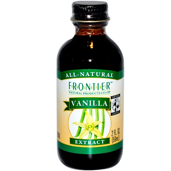 Frontier Natural Products, Fair Trade Vanilla Extract, Farm Grown , 2 fl oz (59 ml) (Discontinued Item)