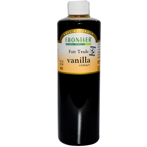 Frontier Natural Products, Vanilla Extract, Farm Grown , 16 fl oz (472 ml) (Discontinued Item)