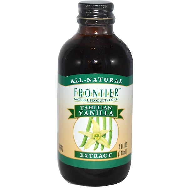 Frontier Natural Products, Tahitian Vanilla Extract, Farm Grown , 4 fl oz (118 ml) (Discontinued Item)