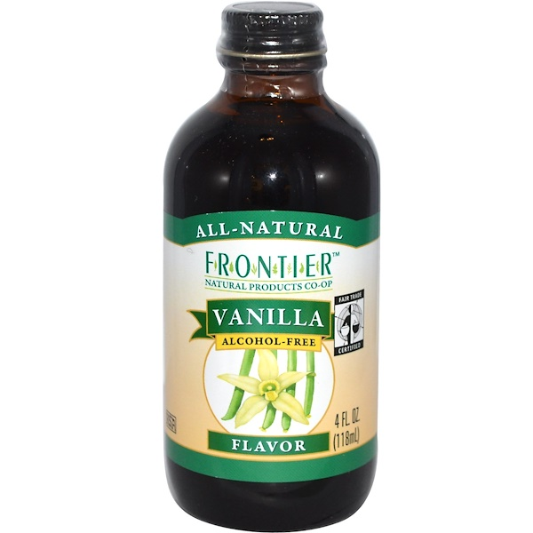 Frontier Natural Products, Fair Trade Vanilla Flavor, Alcohol Free, Farm Grown , 4 fl oz (118 ml) (Discontinued Item)