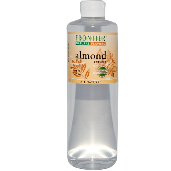 Frontier Natural Products, Almond Extract, 16 fl oz (473 ml) (Discontinued Item)