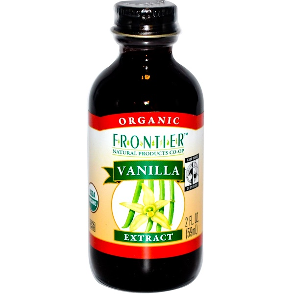 Frontier Natural Products, Organic Fair Trade Vanilla Extract, Farm Grown , 2 fl oz (59 ml) (Discontinued Item)