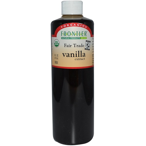 Frontier Natural Products, Fair Trade Organic Vanilla Extract, Farm Grown , 16 fl oz (472 ml) (Discontinued Item)