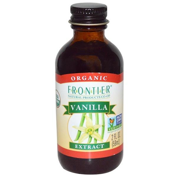 Frontier Natural Products, オーガニック、バニラエキス、 2液量オンス (59 ml)