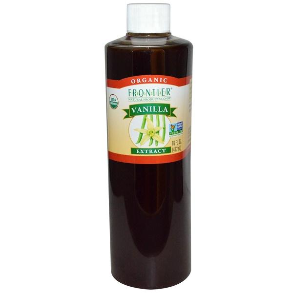 Frontier Natural Products, Натуральный экстракт ванили, 16 жидких унций (472 мл) (Discontinued Item)