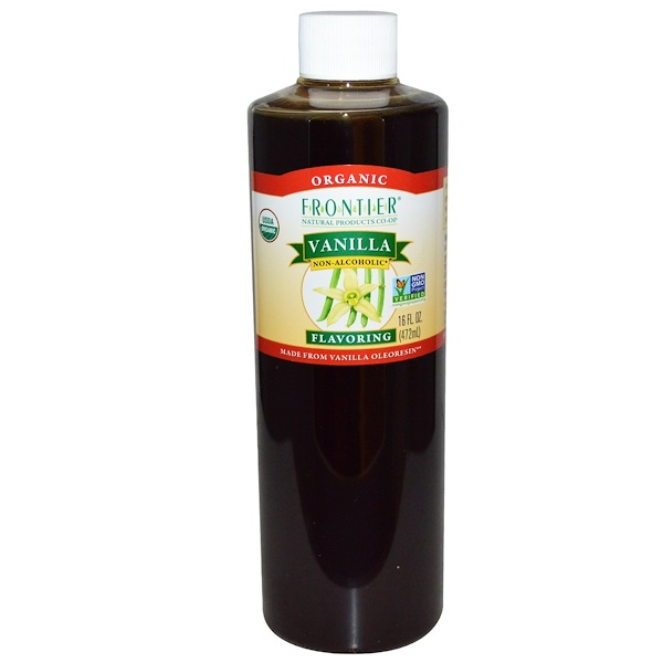 Frontier Natural Products, Organic, Vanilla Flavoring, Non-Alcoholic, 16 fl oz (472 ml) (Discontinued Item)