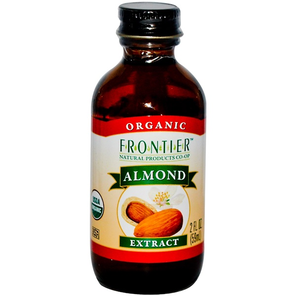 Frontier Natural Products, Organic Almond Extract, 2 fl oz (59 ml) (Discontinued Item)