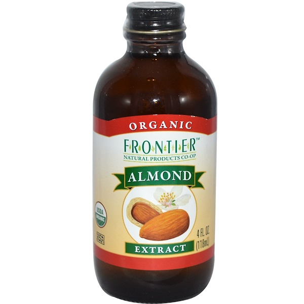Frontier Natural Products, Organic Almond Extract, 4 fl oz (118 ml) (Discontinued Item)