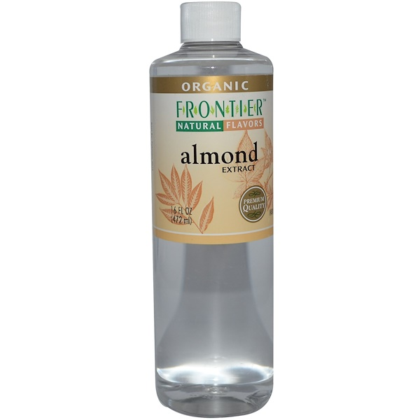 Frontier Natural Products, Organic Almond Extract, 16 fl oz (472 ml) (Discontinued Item)