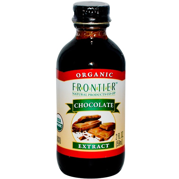 Frontier Natural Products, Organic Chocolate Extract, 2 fl oz (59 ml)