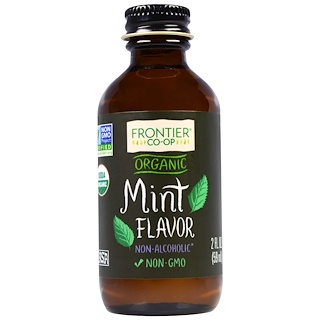 Frontier Natural Products, Organic Mint Flavor, Non-Alcoholic, 2 fl oz (59 ml)