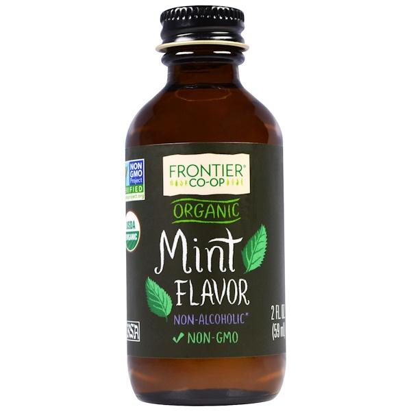 Frontier Natural Products, Organic Mint Flavor, Non-Alcoholic, 2 fl oz (59 ml) (Discontinued Item)