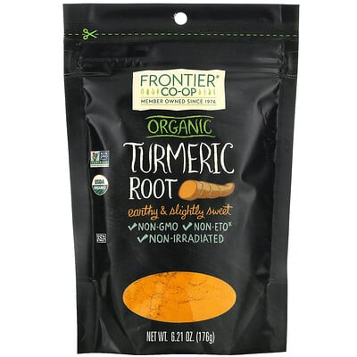 Frontier Natural Products Organic Turmeric Root, 6.21 oz (176 g)