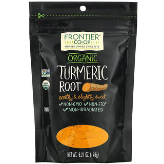 Frontier Natural Products, Organic Turmeric Root, 6.21 oz (176 g)