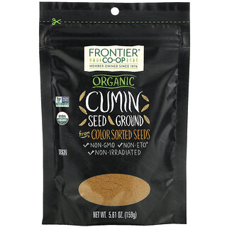 Frontier Natural Products, Organic Cumin Seed, Ground, 5.61 oz (159 g)