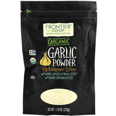 Frontier Natural Products Organic Garlic Powder, 7.76 oz (220 g)  - купить со скидкой
