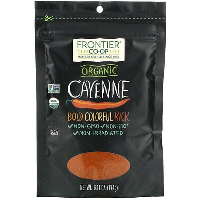 Frontier Natural Products Organic Cayenne, 6.14 oz (174 g)