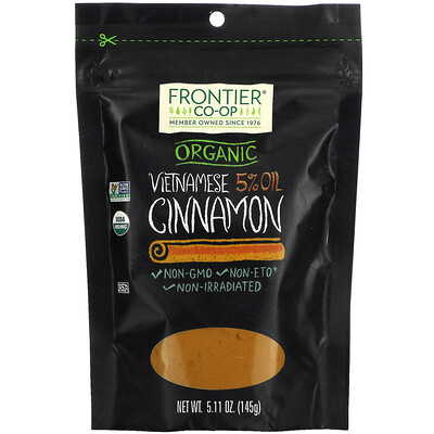 Frontier Natural Products Organic Vietnamese 5% Oil, Cinnamon, 5.11 oz (145 g)