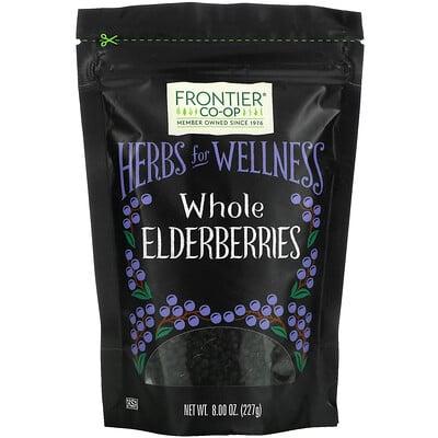 Купить Frontier Natural Products Whole Elderberries, 8 oz (227 g)