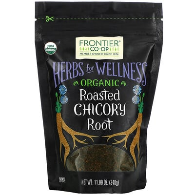 Frontier Natural Products Organic Roasted Chicory Root, 11.99 oz (340 g)