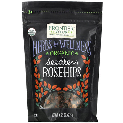 Купить Frontier Natural Products Organic Seedless Rosehips, 8.29 oz (235 g)