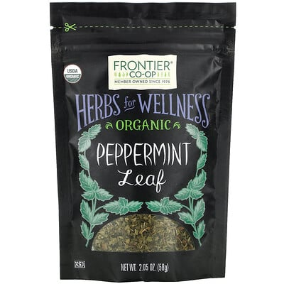 Frontier Natural Products Organic Peppermint Leaf, 2.05 oz (58 g)