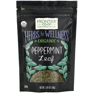 Frontier Natural Products, Organic Peppermint Leaf, 2.05 oz (58 g)