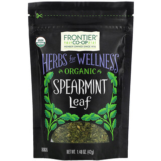 Frontier Natural Products, Organic Spearmint Leaf, 1.48 oz (42 g)