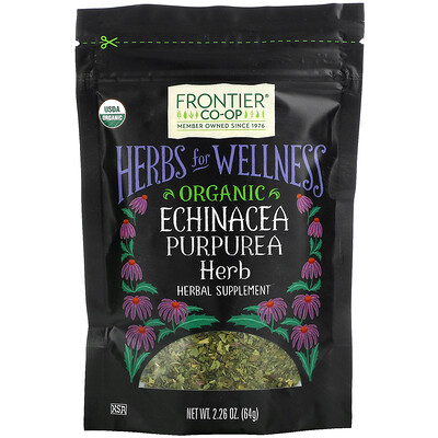 Frontier Natural Products Organic Echinacea Purpurea Herb, 2.26 oz (64 g)