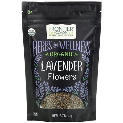 Купить Frontier Natural Products Organic Lavender Flowers, 2.72 oz (77 g)