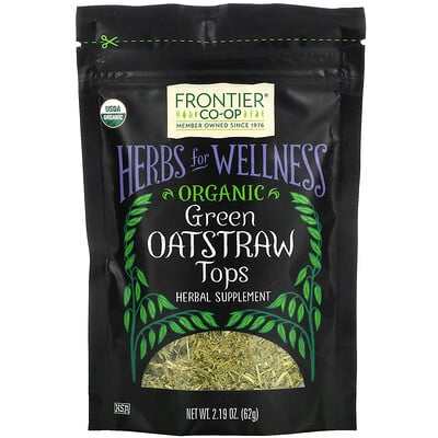 Frontier Natural Products Organic Green Oatstraw Tops, 2.19 oz (62 g)