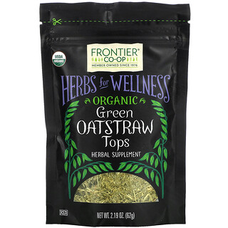 Frontier Natural Products, Organic Green Oatstraw Tops, 2.19 oz (62 g)
