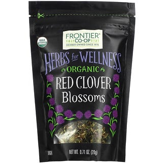 Frontier Natural Products, Organic Red Clover Blossoms, 0.71 oz (20 g)