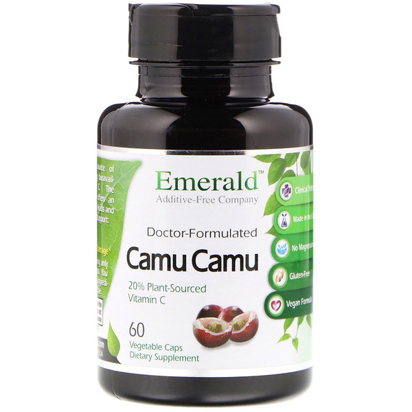 Emerald Laboratories, Camu Camu, 60 cápsulas vegetarianas