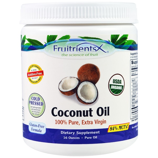 Fruitrients, Coconut Oil, 100% Pure, Extra Virgin , 16 oz