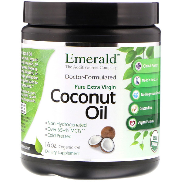 Emerald Laboratories, Coconut Oil, Pure Extra Virgin, 16 oz (Discontinued Item)