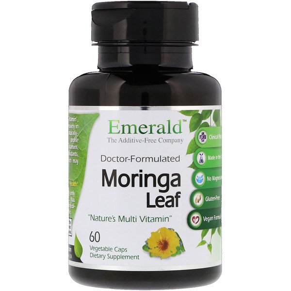 Emerald Laboratories, Moringa Leaf, 60 Vegetable Caps (Discontinued Item)