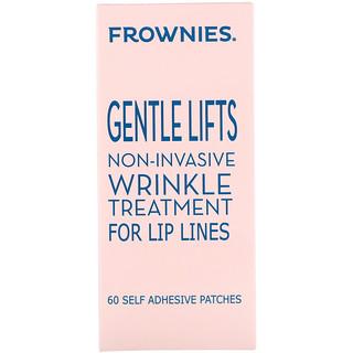 Frownies, ジェントルリフト、リップライン用トリートメント、自己接着性パッチ60枚