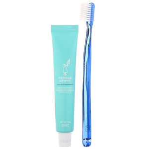 First Salt After The Rain, Grey Salt Toothbrush & Toothpaste Set, Dark Blue, 1 Kit отзывы