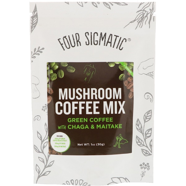 Four Sigmatic, Mushroom Coffee Mix, Green Coffee, 1 oz (30 g) (Discontinued Item)