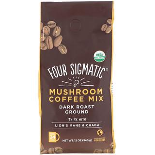 Four Sigmatic, Mushroom Coffee Mix, Dark Roast Ground, 12 oz (340 g)
