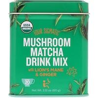 Органический грибной напиток маття, содержит ежовик гребенчатый и имбирь, 2,12 унц. (60 г) - фото