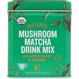 Four Sigmatic, Organic Mushroom Matcha Drink Mix With Lion's Mane & Ginger, 2.12 oz (60 g)