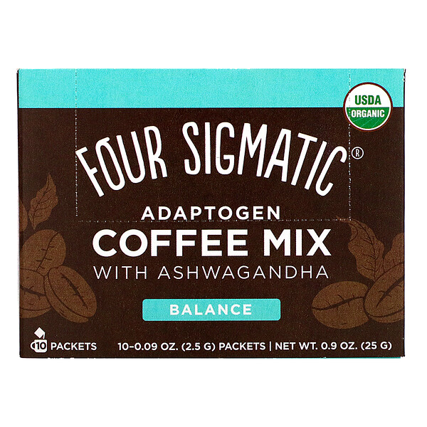 Adaptogen Coffee Mix with Ashwagandha, 10 Packets, 0.09 oz (2.5 g) Each