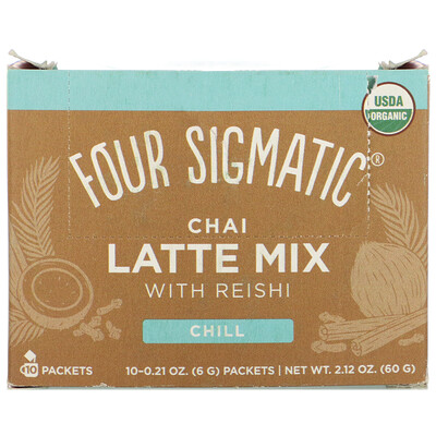 Купить Four Sigmatic Chai Latte Mix with Reishi, 10 Packets, 0.21 oz (6 g) Each