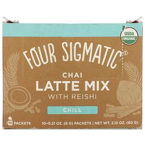 Фор Сигматик, Chai Latte Mix with Reishi, 10 Packets, 0.21 oz (6 g) Each отзывы