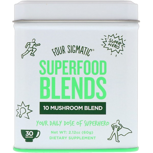 Four Sigmatic, Superfood Blends, 10 Mushroom Blend, 2.12 oz (60 g)