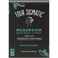 Four Sigmatic, Mushroom Face Mask & Tonic, Purify with Mushrooms & Adaptogens, 3.53 oz (100 g)